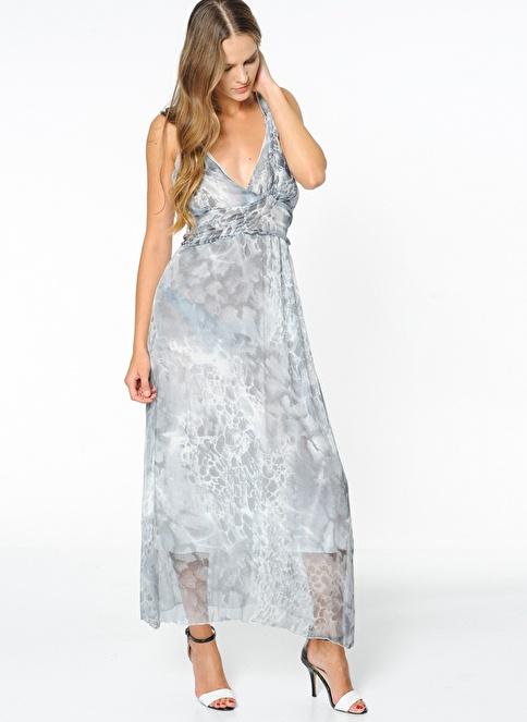 Sense Uzun Abiye Elbise Mavi